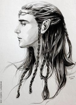 Drawn elf lotr elf