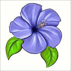Drawn flower violet