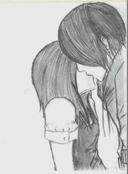 Drawn kissing hard