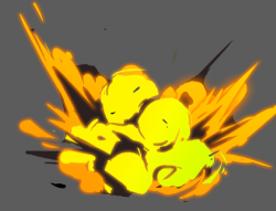 Drawn explosions
