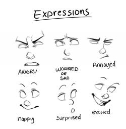 Drawn expression annoyed