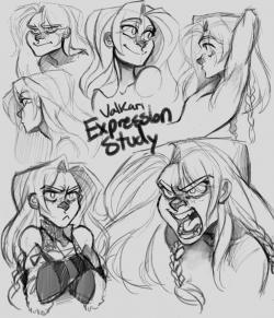 Drawn expression upset