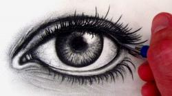Drawn eye