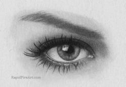 Drawn eyeball iris eye
