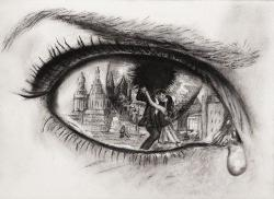 Drawn eyeball art