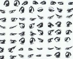 Drawn eye