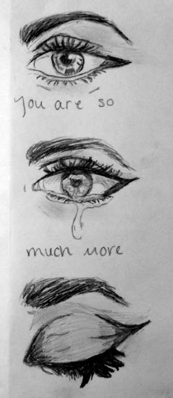 Drawn quote sad