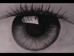 Drawn photos iris eye