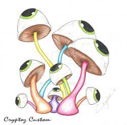 Drawn mushroom psychedelic mushroom
