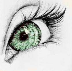 Drawn eyeball beautiful eye