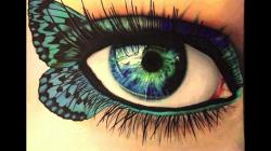 Drawn eyeball color