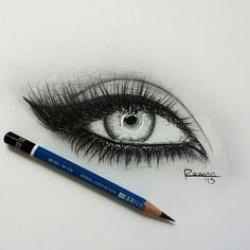 Drawn eyeball contrast