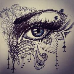 Drawn eyeball doodle