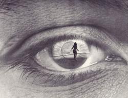 Drawn eye eye reflection