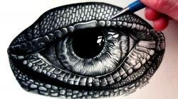 Drawn reptile lizzard