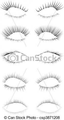 Eyelash clipart drawn