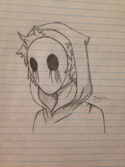 Drawn eyeless jack chibi