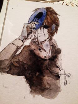 Drawn eyeless jack creepy