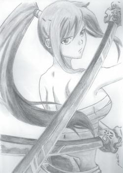 Drawn fairy tale erza scarlet