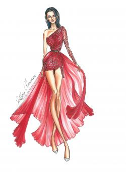 Drawn women fashion drawing