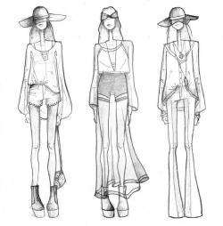 Drawn people fashion design