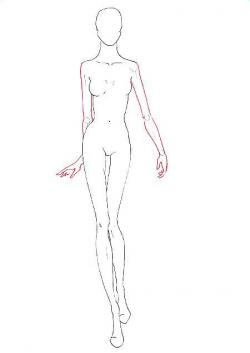 Drawn figurine sketch model