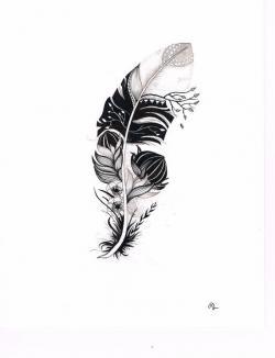 Drawn tattoo abstract