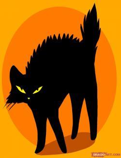 Drawn feline angry