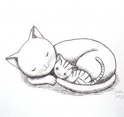 Drawn feline