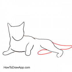Calico Cat clipart outline drawing