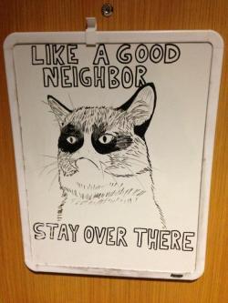 Drawn feline whiteboard