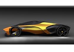 Drawn lamborghini futuristic car