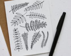 Drawn fern doodle