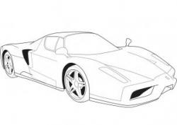 Drawn ferrari