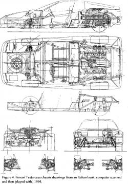 Drawn ferarri cad
