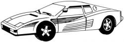 Drawn ferarri detailed