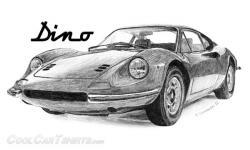 Drawn ferarri epic car