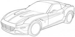 Drawn ferarri ferrari california