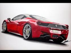 Drawn ferarri italia