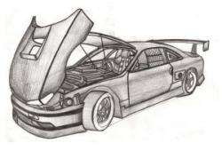 Drawn ferarri mustang