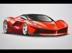 Drawn ferarri real car