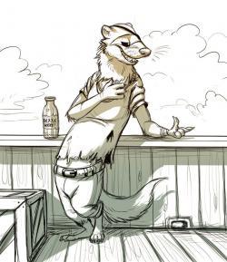 Drawn ferret anthro