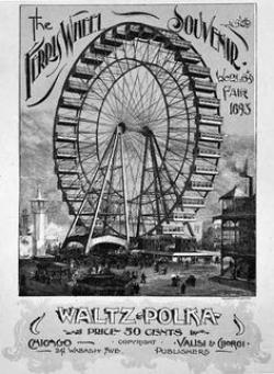 Drawn ferris wheel george ferris
