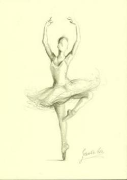 Drawn figurine figure skating