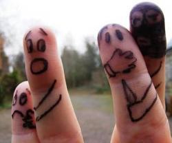 Drawn finger friendship