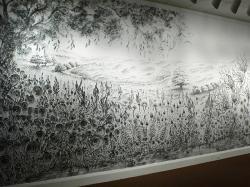Drawn finger mural