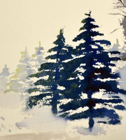 Drawn fir tree
