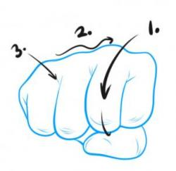 Drawn fist cartoon