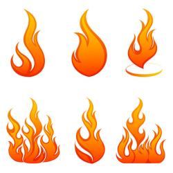 Flames clipart vector