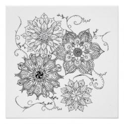 Drawn floral